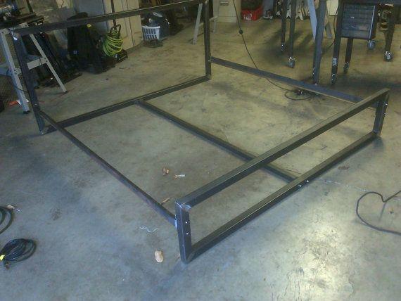 Steel bed frame, Bed frames and Frames on Pinterest