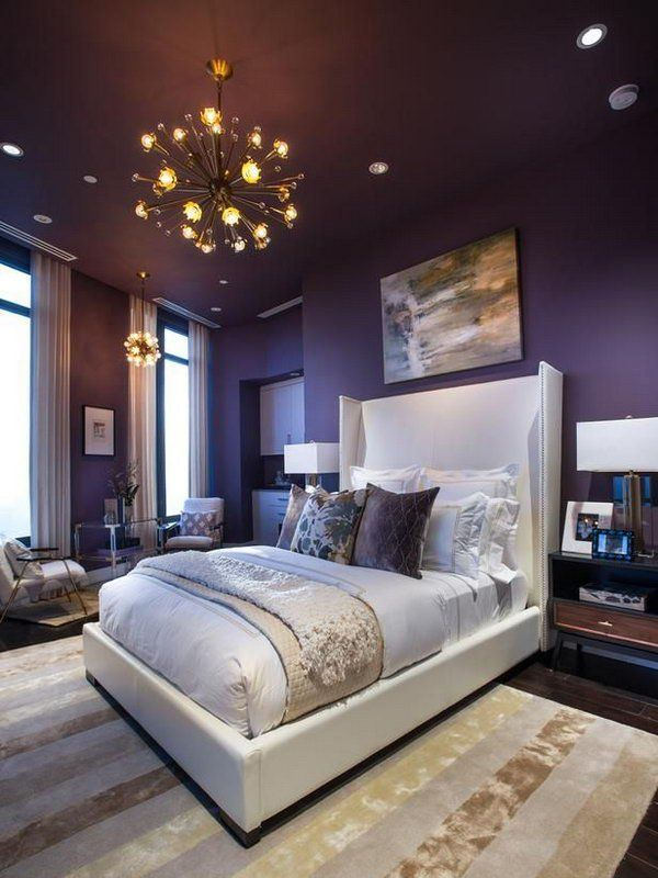 purple paint in bedroom beautiful wall painting ideas for master bedroom 16883
