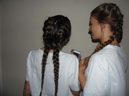 Double braids #grunge #bestfriends #hair