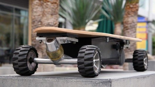 Electric Skateboard = Californian creator + 17mph + all command with your feet + 499$ to 749$