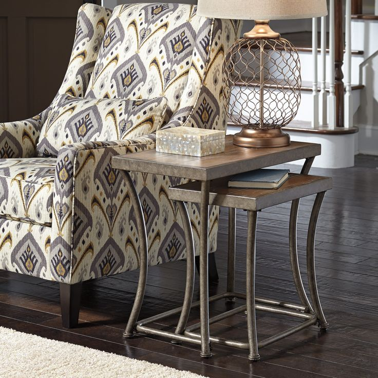 Signature Design by Ashley Nartina 2 Piece Nesting End Table Set  from  hayneedle