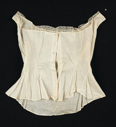 Woman's corset cover 1760s