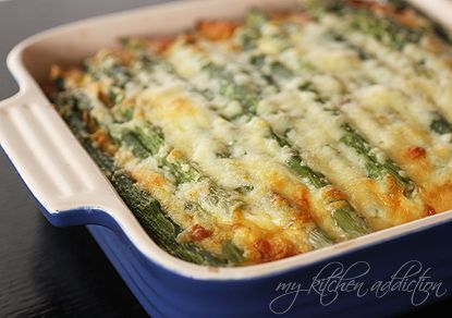 Ham and Asparagus Strata--I think I will use the 4 eggs instead of the 8 egg whites...looks yummy!