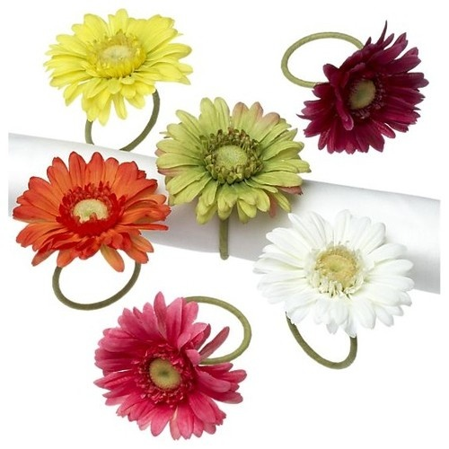 Gerber Daisy Napkin Rings eclectic napkin rings