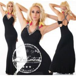 Rochie eleganta lunga Perfect Body neagra
