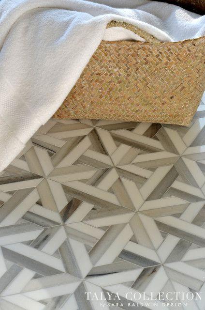 Masterful Marble Mosaics / The English Room Blog