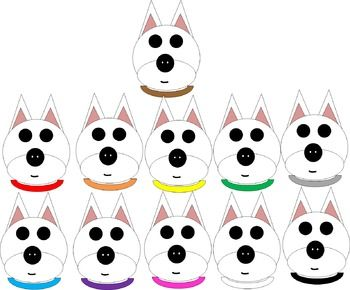 A collection of 22 images! A white dog (West Highland White Terrier) has 22 different collar designs. 11 dogs have solid-colored collars and 11 dogs have polka dot collars! Please read my Terms of Use (included with download). Thank you! Enjoy! :)CHECK OUT MY OTHER CLIP ART!Letter A Clip ArtFall Clip ArtTurkey Clip Art {FREEBIE}Penguin Clip ArtChristmas Clip ArtUnifix Cube Clip ArtCat Clip ArtOwl Clip Art {Over 100 Images}!Food Clip ArtSchool Clip Art FREE MEGA PACK {147 Images}!lFREE Glue…
