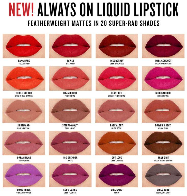 """מותג היופי האמריקאי """"סמאשבוקס"""" משיק סדרת שפתונים נוזליים חדשה - Always on Matte Liquid Lipstick , במיגוון גוונים הורסססס.  אחד מהם - בגוון..."""