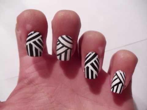 Weaving Lines Nail Art Design - Best 25+ Line Nail Designs Ideas On Pinterest White Nail Art