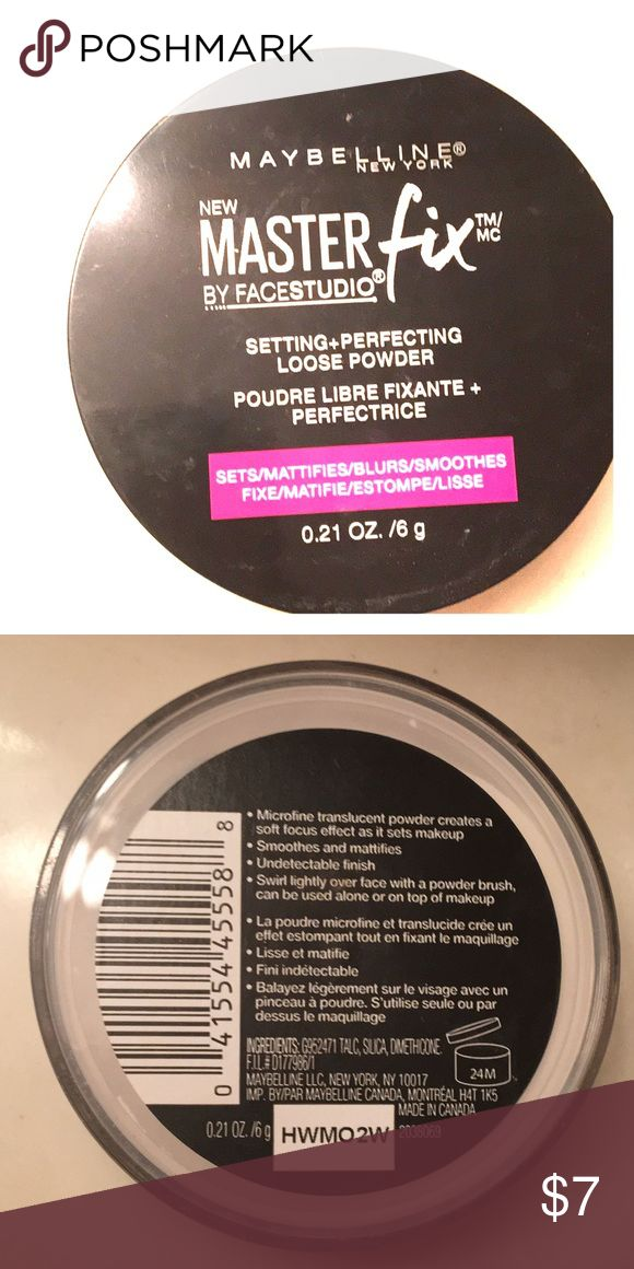 Maybelline MasterFix Perfect Loose Setting Powder Maybelline Master Fix Perfecting Loose Setting Powder 6g. New, opened, unsealed, used once. Great deal! Maybelline Makeup Face Powder