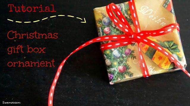 Tutorial: Christmas gift box ornament-Χριστουγεννιάτικο στολίδι δώρο