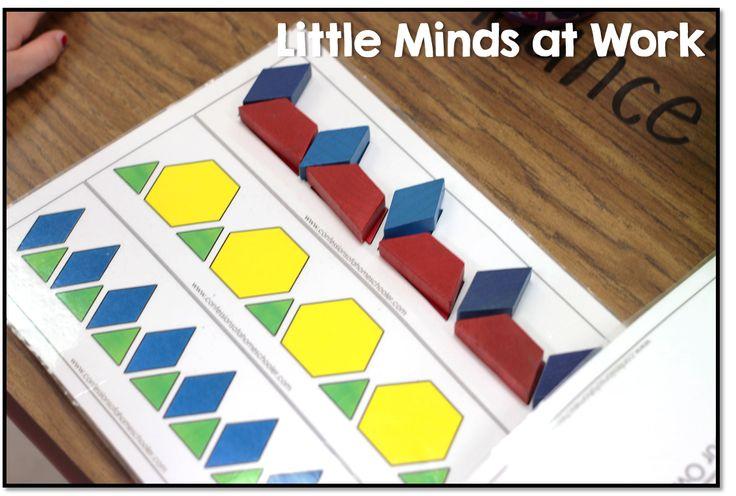 pattern block mats free | Math | Pinterest | Free pattern, Activities ...