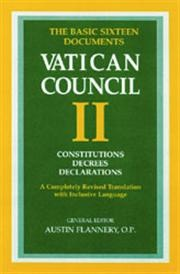 The Documents of Vatican Council II: The Basic Edition Paperback : Liturgical Press