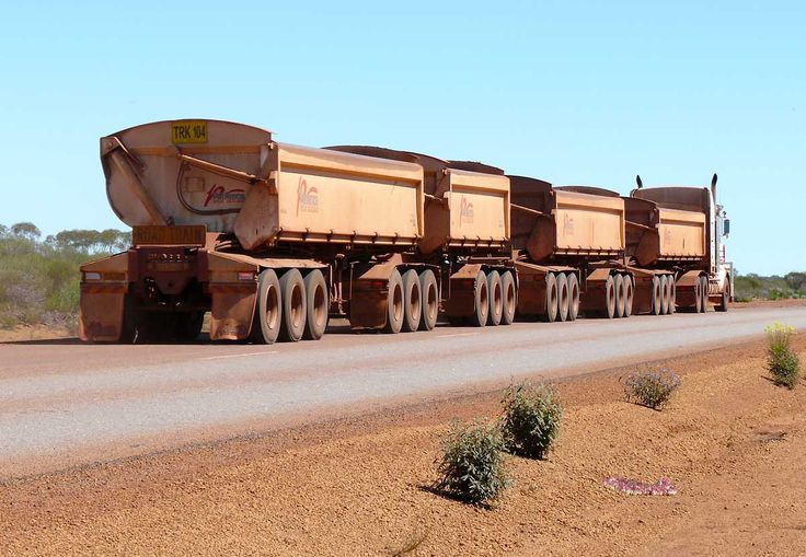 Iron ore Road Train in Western Australia