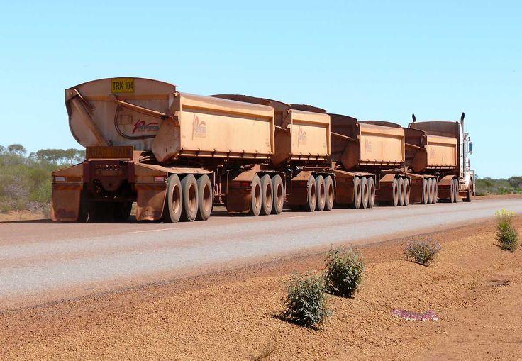 Iron ore Road Train in Western Australia