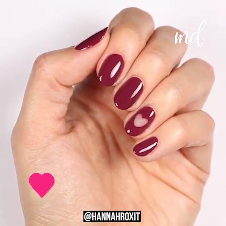 FUN CUT OUT NAIL DESIGN #nailart #nails #naildesign A fun cut out design using nail tees