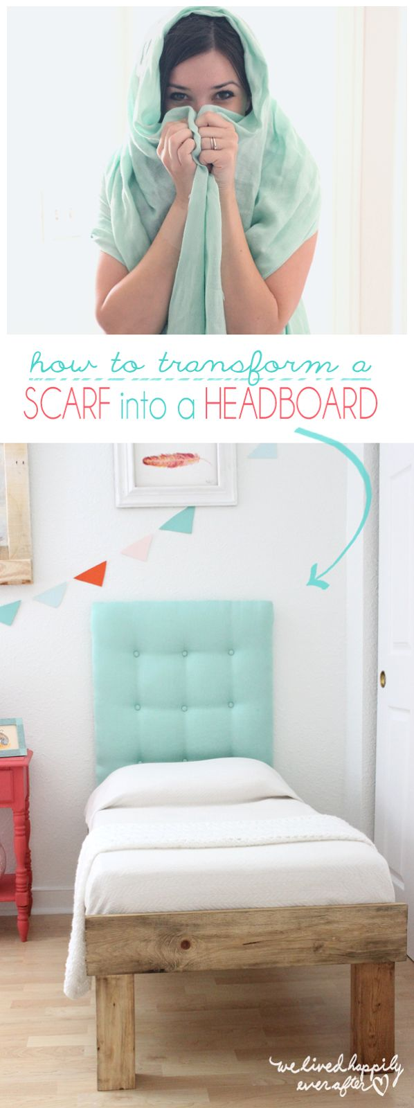 How to Transform a SCARF into a HEADBOARD