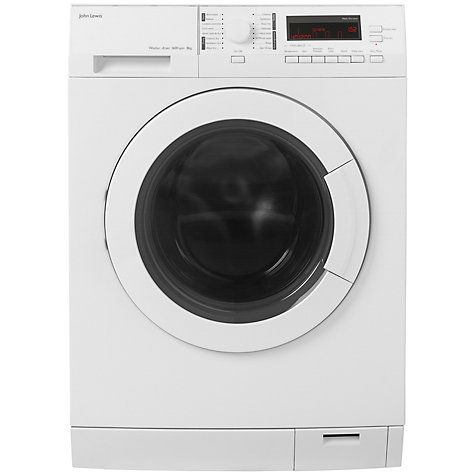 Buy John Lewis JLWD1612 Washer Dryer, 8kg Wash/6kg Dry Load, A Energy Rating, 1600rpm Spin, White Online at johnlewis.com