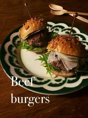 ☆ ビーフパテの ミニハンバーガー ☆ | plat du jour*