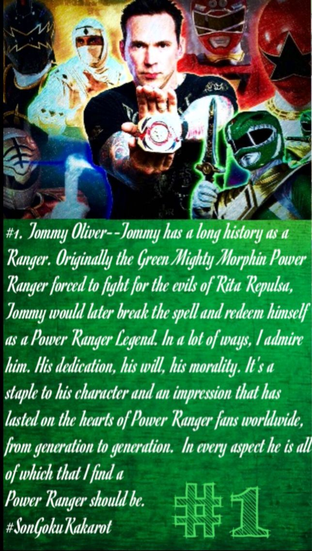 #1. TOMMY OLIVER #SonGokuKakarot (Disclaimer: I do not own these images, I simply edited them. All rights go to their original creators).