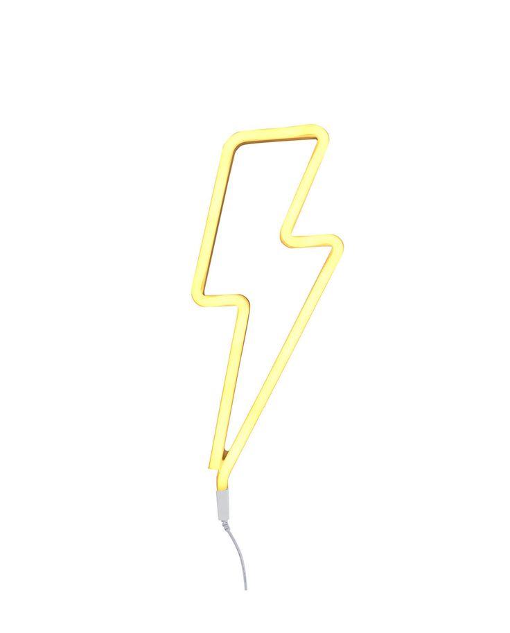 Neon Leuchte Lightning bolt