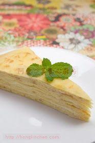 法式榴蓮千層蛋糕 - Mille Crepe Durian Cake