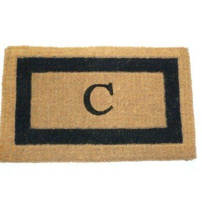 "Imperial IBM Single Monogram Golden Doormat Size: 24"" x 39"", Letter: W by Geo Crafts, Inc. $48.29. IBM BLK39W Size: 24"" x 39"", Letter: W Features: -Technique: Tufted.-Material: 100pct Natural coco fiber.-Origin: India.-Scrub off dirt.-Moisture absorbent.-Resists mildew.-Hides dirt within the fibers.-Bio-degradable.-Prolong the printed patterns or monogram, place the door mat in a sheltered area.-Personalize this Rug with Monogramming. Construction: -Construction:..."