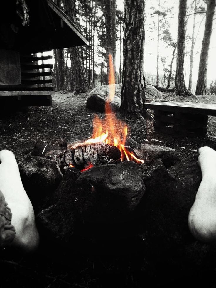 Warm yourself by the fire son...