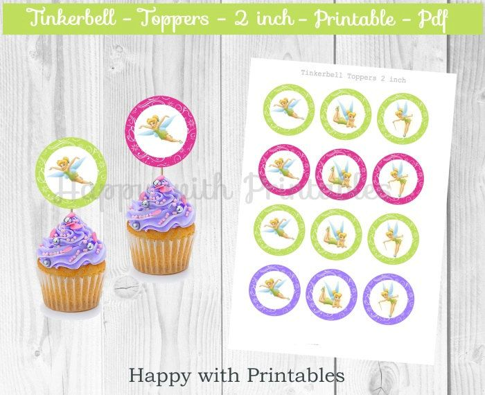 97 Tinkerbell Birthday Cake Toppers