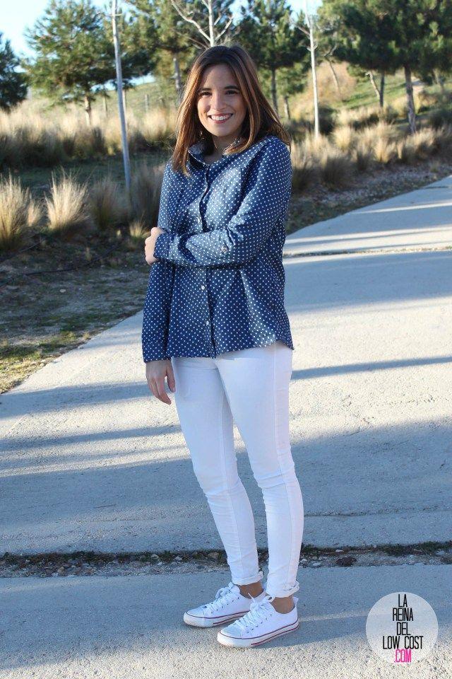 kimod blog de moda barata la reina del low cost pilar pascual del riquelme camisa vaquera camisa con lunares camisa topos bershka primark kimod barcelona tienda online de ropa barata style outfit look (4)