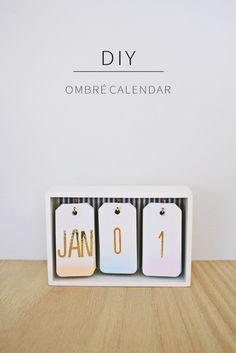 Diy: fabriquez un calendrier ombré pour votre bureau! | BricoBistro