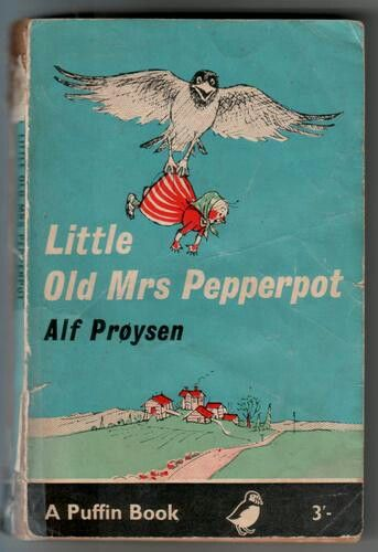 Loved Mrs Pepperpot. I think the librarian regretted telling me about the book wishlist process whereby students could write on a small white card the book/s they would like the librarian to buy in. I spent a little lunch break writing out a card for each of the Mrs Pepperpot books not currently in the library.