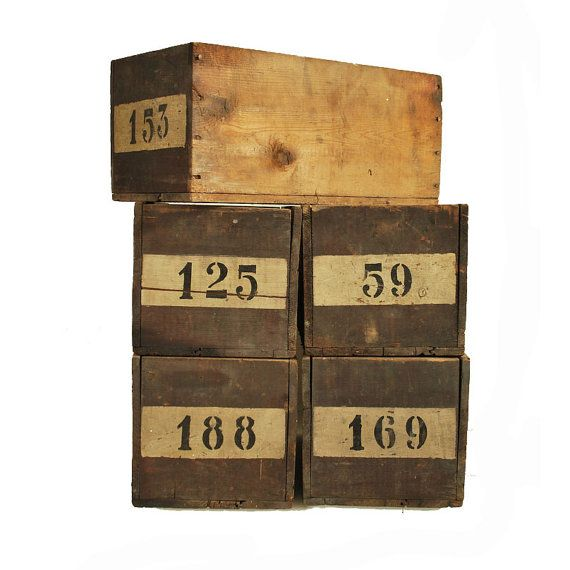 Vintage Wooden Boxes / Hardware Store Box / by midmoderngoods