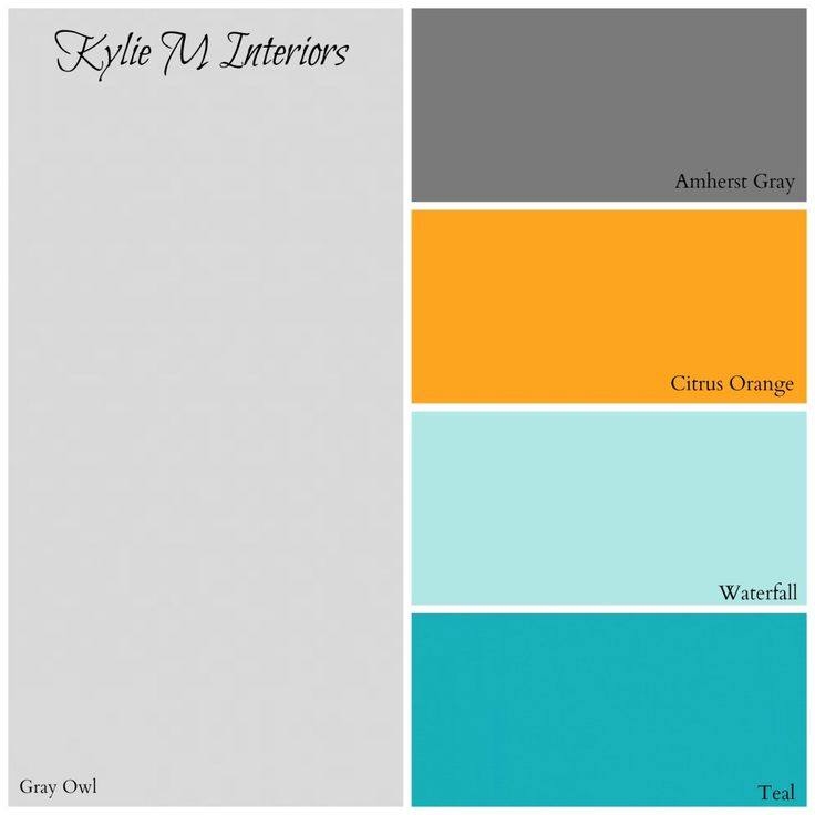paint colour palette for boys bedroom by benjamin moore. Based on Gray Owl