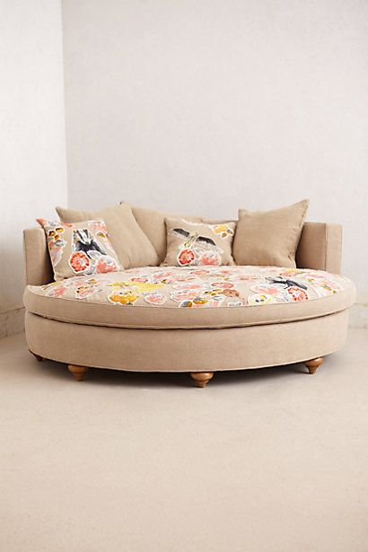 Pixelated Flora Circle Sofa  #anthropologie #anthrofave - talk about comfy...