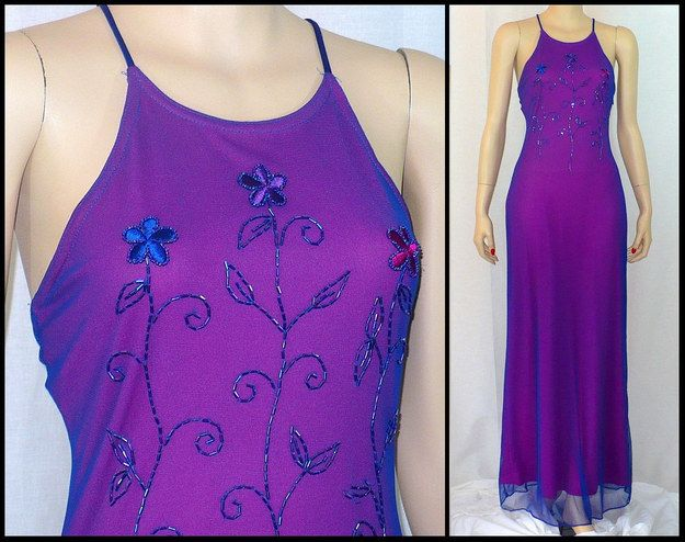 AH, late 90s prom dresses.  Think there was a law which stated they ALL had to have halter necks. | 18 Things '90s Girls Wore To Prom