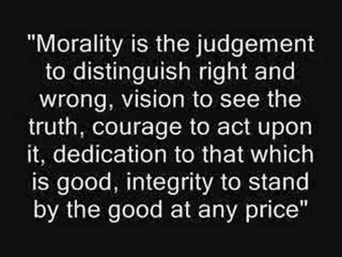 how important moral values are for you in todays world