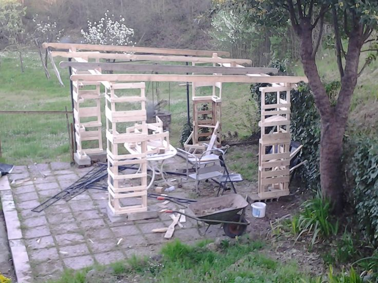 17 best images about pallet on pinterest pallets and gazebo for Wood pallet gazebo