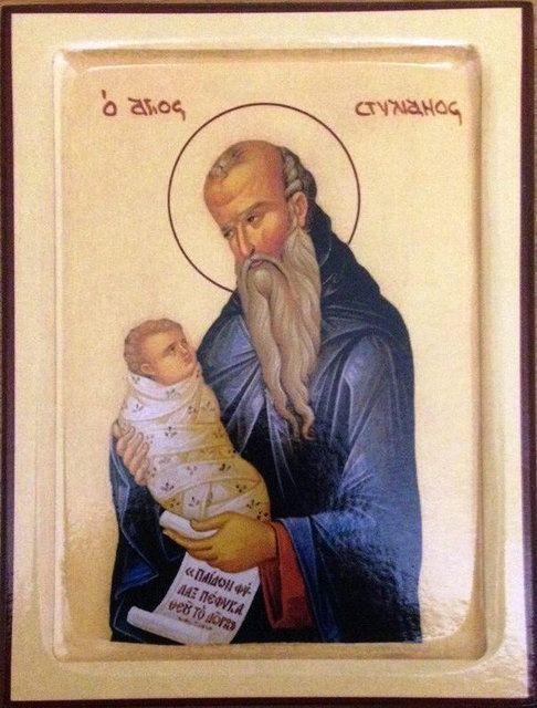 Икона Святой Стилиан Пафлагонский 140 х 105 х 18мм, фото 1