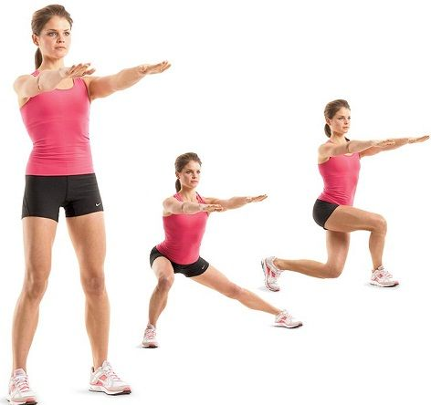 Side and cross-over lunges2