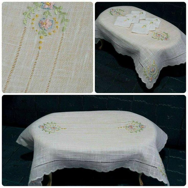 Violeta Llaneza Estrada - embroidered tablecloth