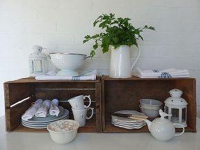 upcycled rustic vintage crates kitchen storage, garages, repurposing upcycling, storage ideas, vintage crate storage