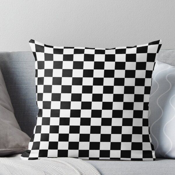 Checkered Racing Car Flag Pillow And Cushion Cover Throw Pillow By Stickersandtees Pillows Throw Pillows Designer Throw Pillows