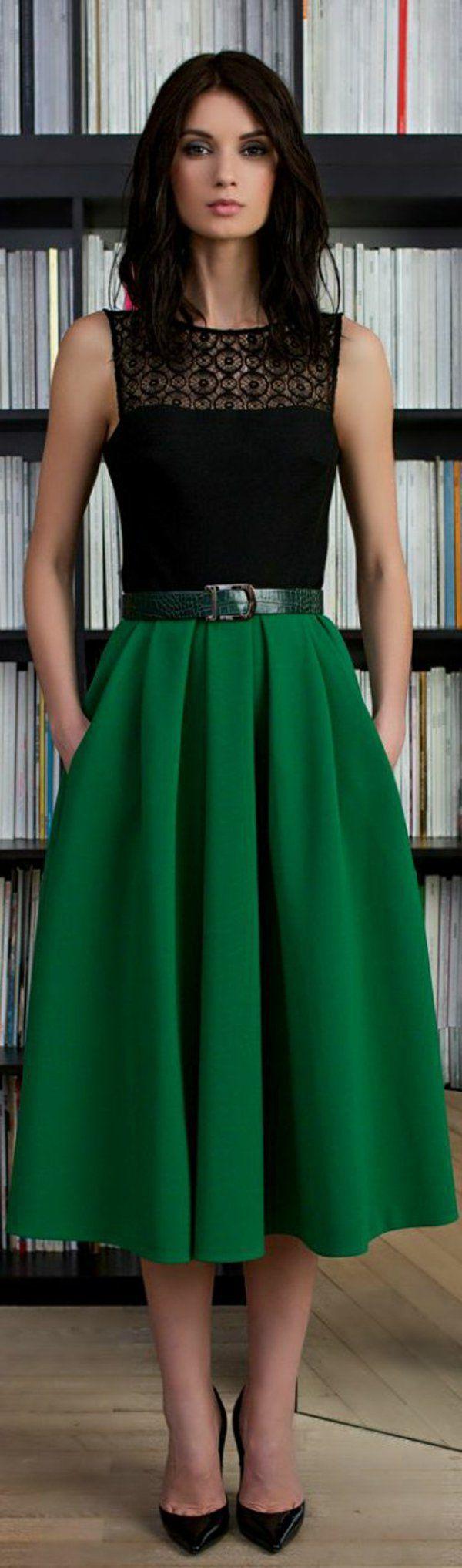 jupe longue verte