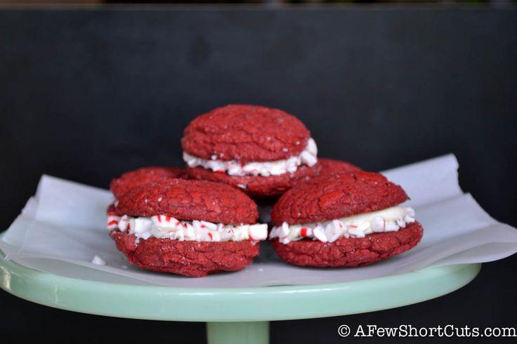 Peppermint Mocha Sandwich Cookies-7