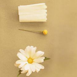 Flor de papel crepe margarita DIY crepe paper Daisy flower