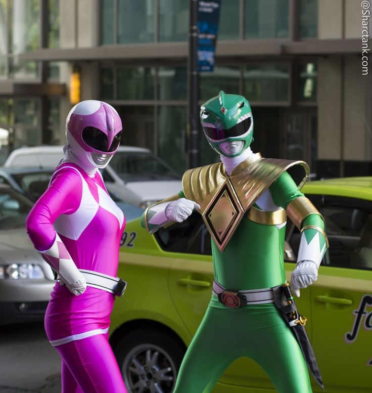 Pink and Green ranger cosplay