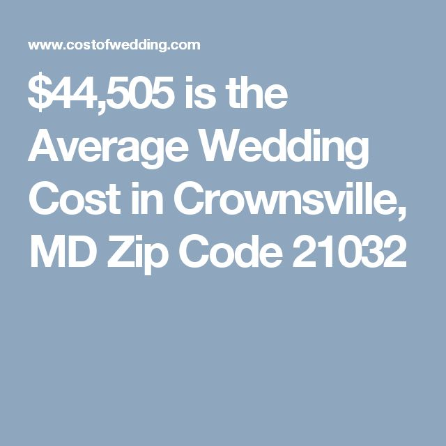 $44,505 is the Average Wedding Cost in Crownsville, MD Zip Code 21032