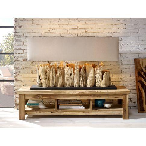 Tischleuchte Vertico Landhausstil Holz Leinen Miavilla