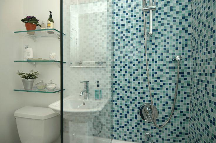 Banheiro com lajotas